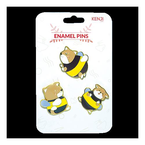 Kenji Enamel Pins  - Shiba Bee