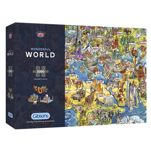 Gibsons Wonderful World 2000pc Puzzle