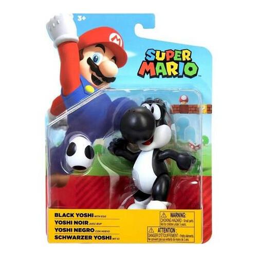 Super Mario 4 Inch Figures - Black Yoshi
