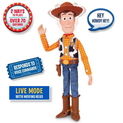 Toy Story 4 Sheriff Woody With Interactive Drop Down Action