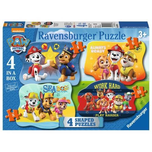 Ravenburger 4 Shaped Puzzles Paw Patrol