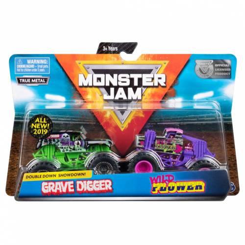 Monster Jam - 2 Pack - Grave Digger vs Wild Flower