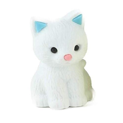 Iwako Puzzle Eraser - Pastel Cat (White)