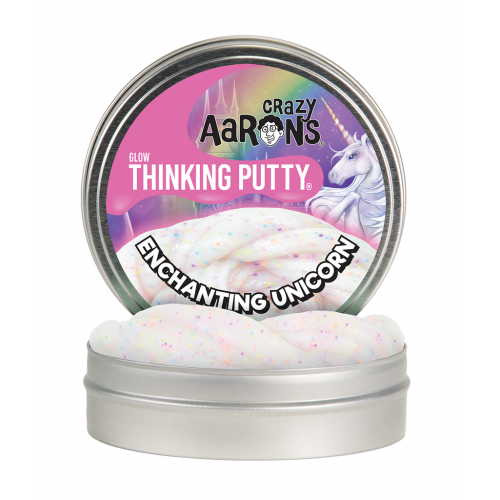 Crazy Aarons Thinking Putty Glow - Enchanting Unicorn