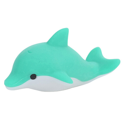 Iwako Puzzle Eraser - Sea Animals - Dolphin (Green)