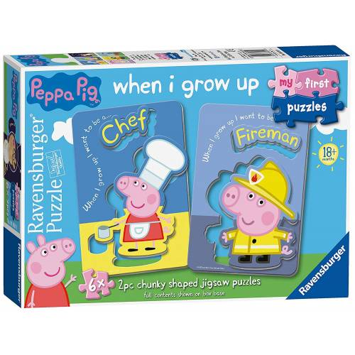 Ravensburger My First Puzzles 6x 2pc Chunky Shaped Jigsaw Puzzles Peppa Pig