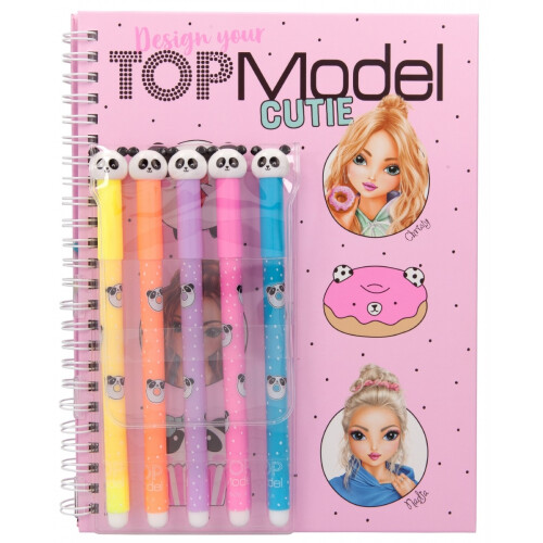 Depesche Top Model Colouring Book With Felt Pens - Candy Cake