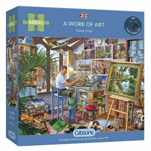 Gibsons A Work of Art 500pc XL Puzzle