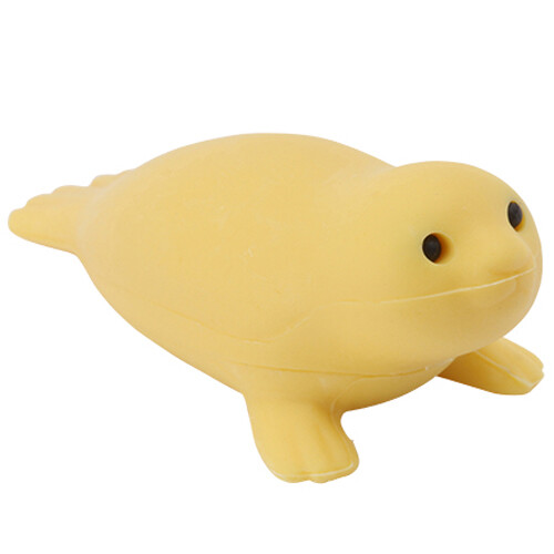 Iwako Puzzle Eraser - Sea Animals - Seal (Yellow)