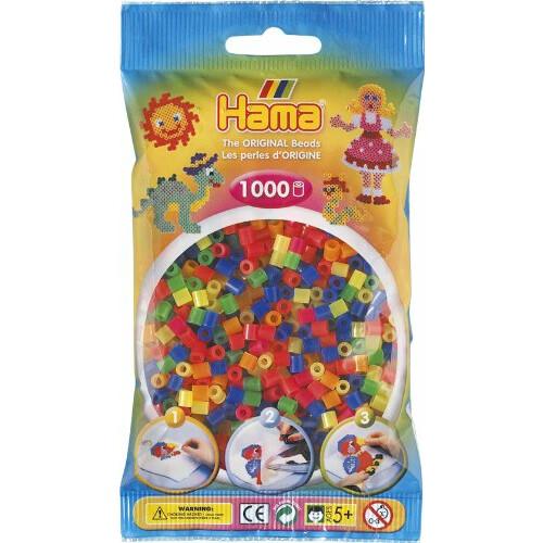 Hama Beads 207-51 Neon Mix