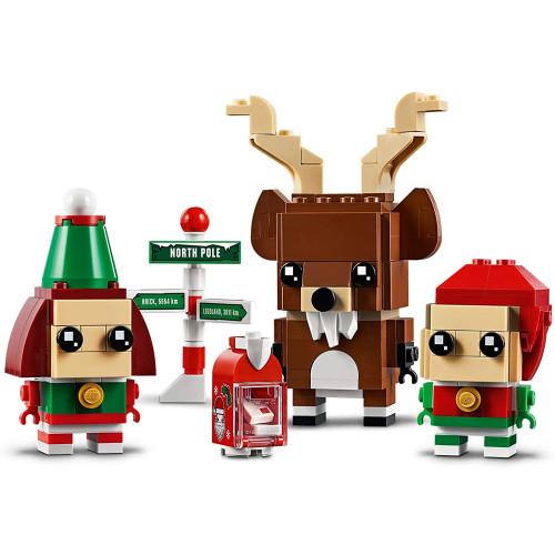 Lego 40353 Brick Head Reindeer Elf And Elfie