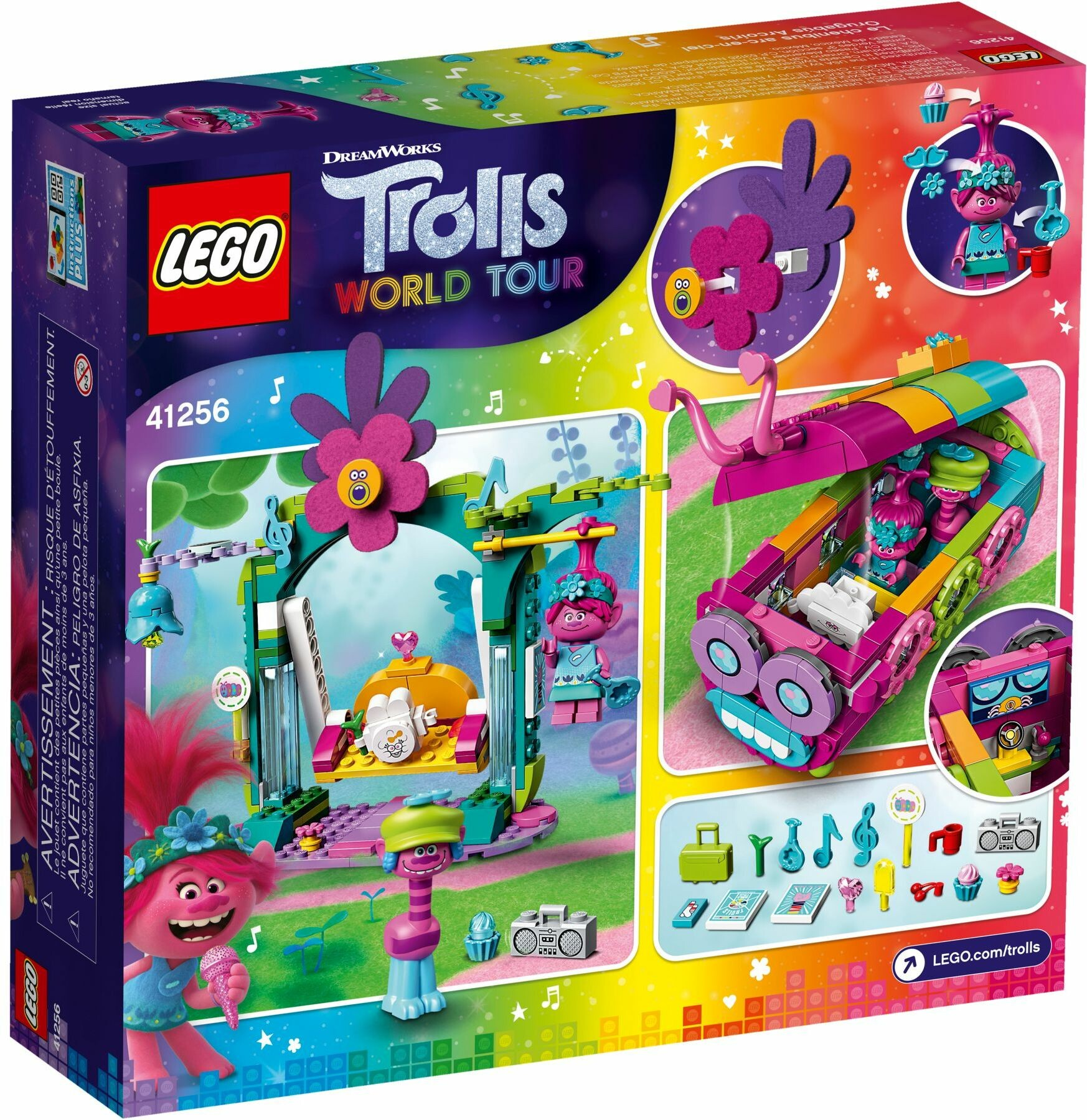 Lego 41256 Trolls World Tour Rainbow Caterbus Toys N Tuck
