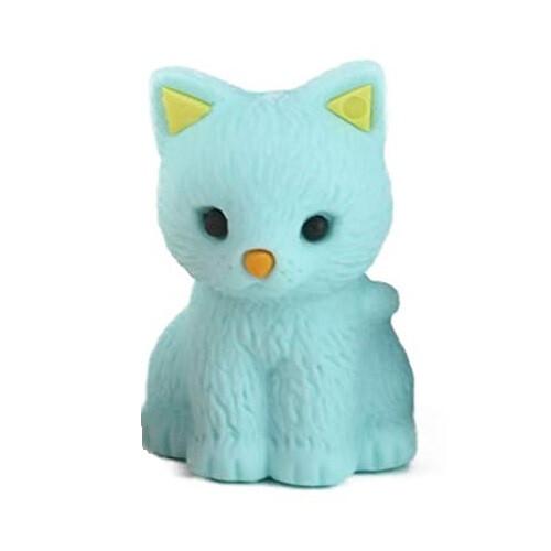 Iwako Puzzle Eraser - Pastel Cat (Blue)