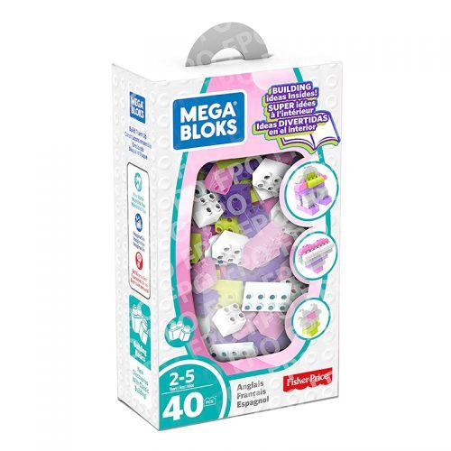 Mega Bloks Lets Build - Pink - Purple - Green - White