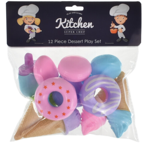Kitchen Super Chef - 12 Piece Dessert Play Set
