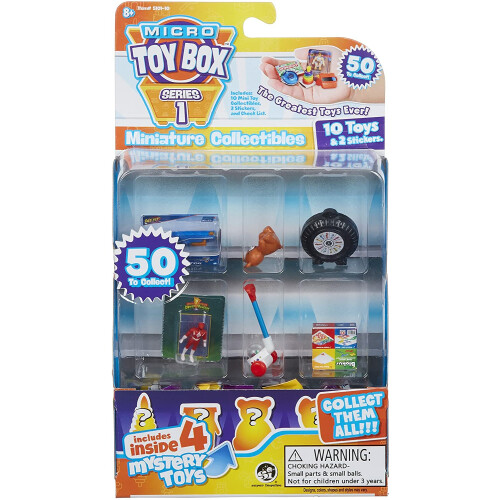 Micro Toy Box Miniature Collectibles 10 Pack Series 1