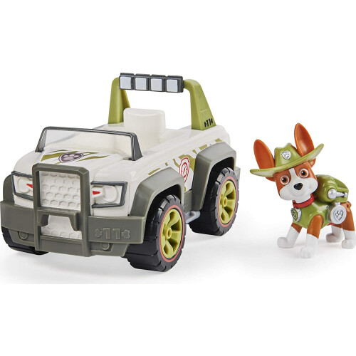 Paw Patrol Basic Vehicle with Pup - Tracker Jungle Cruiser