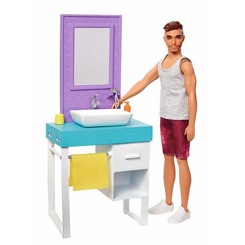Barbie Ken Bathroom Playset