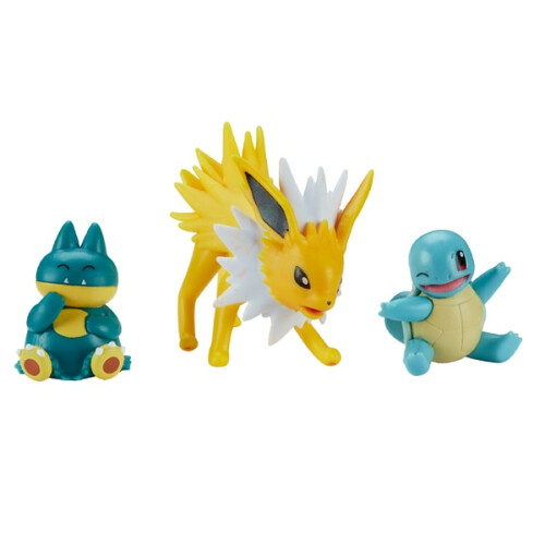 Pokemon Battle Figure Set - Jolteon Squirtle Munchlax