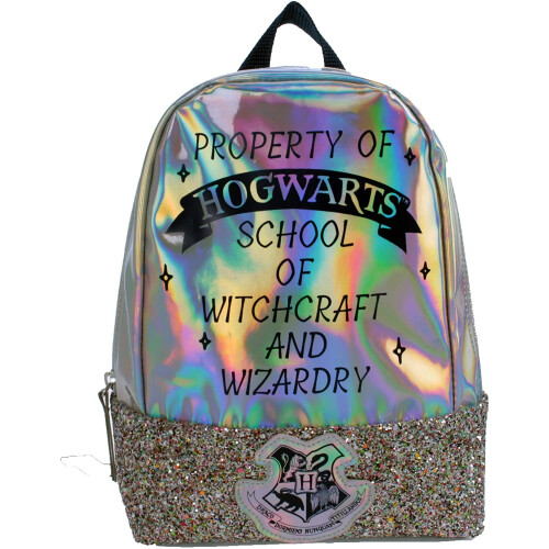 Character Backpack - Harry Potter Silver Glitter