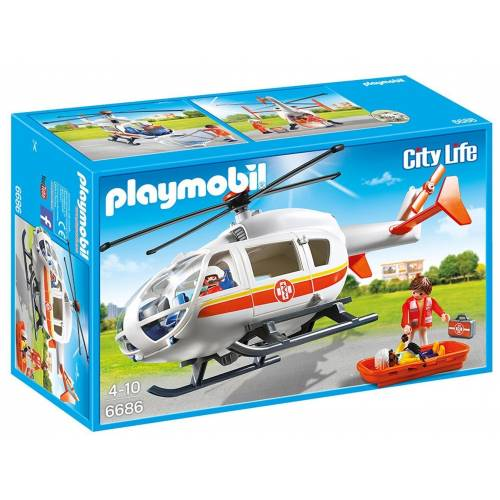 Playmobil 6686 Emergency Medical Helicopter with Spinning Rotor Blades