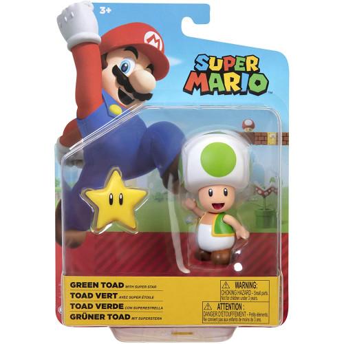Super Mario 4 Inch Figures - Green Toad