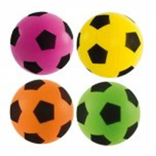 Sponge / Foam Football 17.5cm Approx size 4 - 50 Assorted Yellow, Orange, Green, Pink (email or phone if specific colour required)