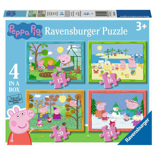 Ravensburger 4 Puzzles in a Box Peppa Pig Four Seasons