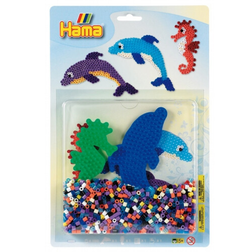 Hama Beads 4058 Dolphins & Seahorse