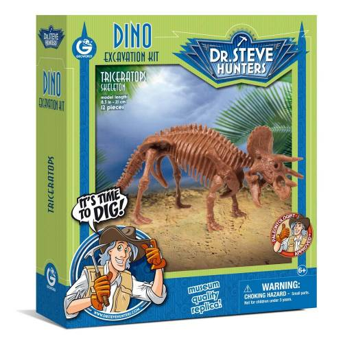 Dino Excavation Kit - Triceratops Skeleton
