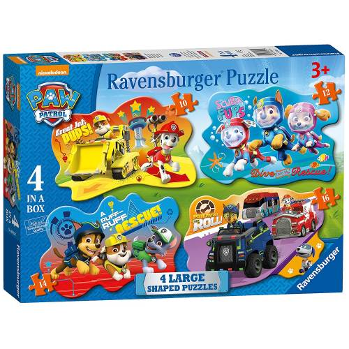Ravensburger 4 Large Shaped Puzzles Paw Patrol