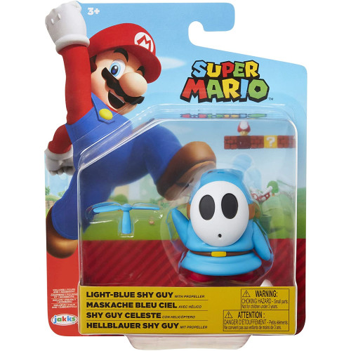 Super Mario 4 Inch Figures - Light Blue Shy Guy