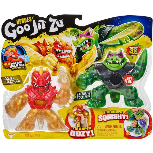 Heroes of Goo Jit Zu - Versus Pack - Golden Blazagon Vs Rock Jaw Water Blast Attack