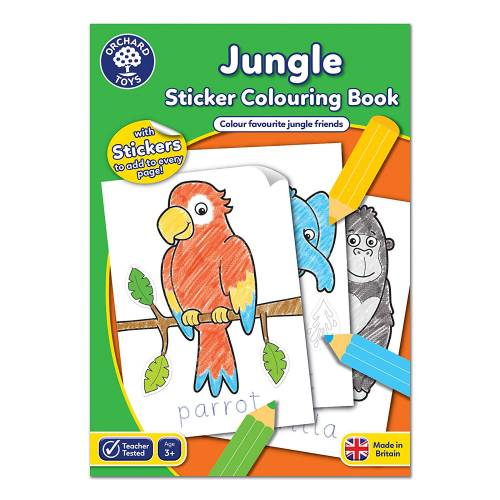 Orchard Jungle Sticker Colouring Book