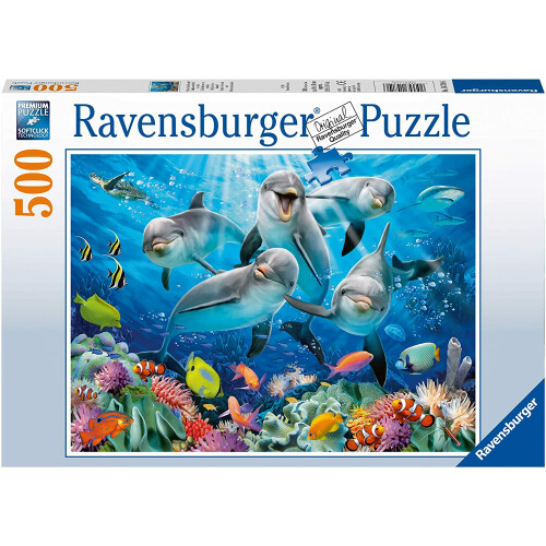 Ravensburger 500pc Puzzle Dolphin's in the Coral Reef
