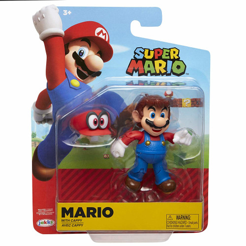 Super Mario 4 Inch Figures - Mario with Cappy