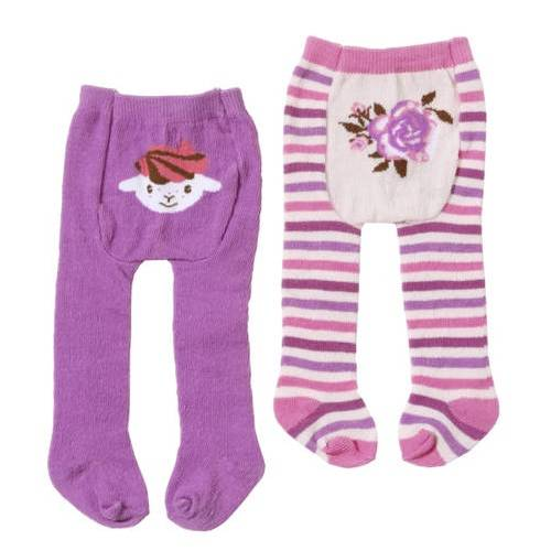 Baby Annabell Clothing - Purple Tights