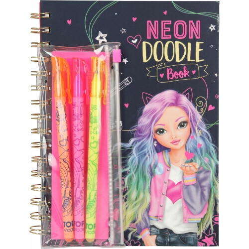 Depesche Top Model Neon Doodle Book