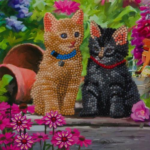 Crystal Art Card Kit - Kittens