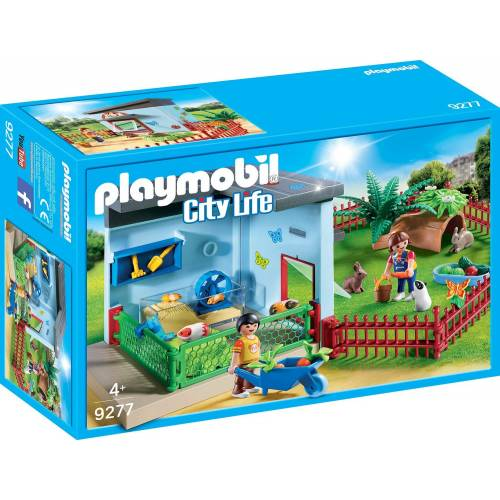 Playmobil 9277 Pet Hotel Small Animal Boarding with Hamster Wheel