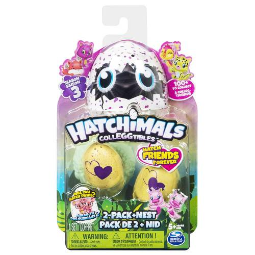 Hatchimals Colleggtibles - Season 3 - 2-Pack + Nest