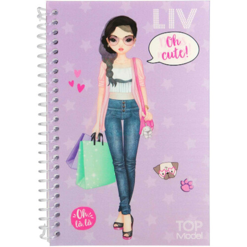 Depesche Top Model Dress Me Up Pocket Stickerbook - Liv