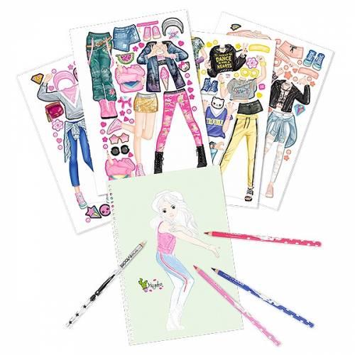 Depesche Top Model Dance Sticker and Colouring Book