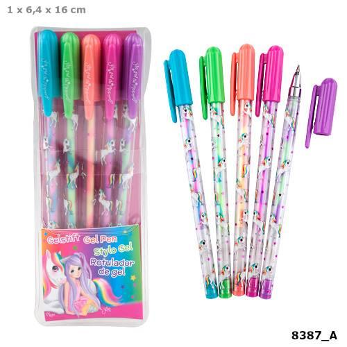 Depesche Ylvi & the Minimoomis Gel Pen Set 5 Rainbow Colours
