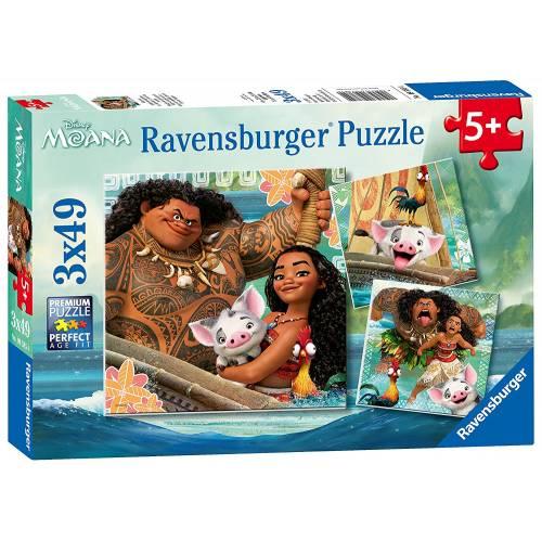 Ravensburger 3 x 49pc Puzzles Disney Moana