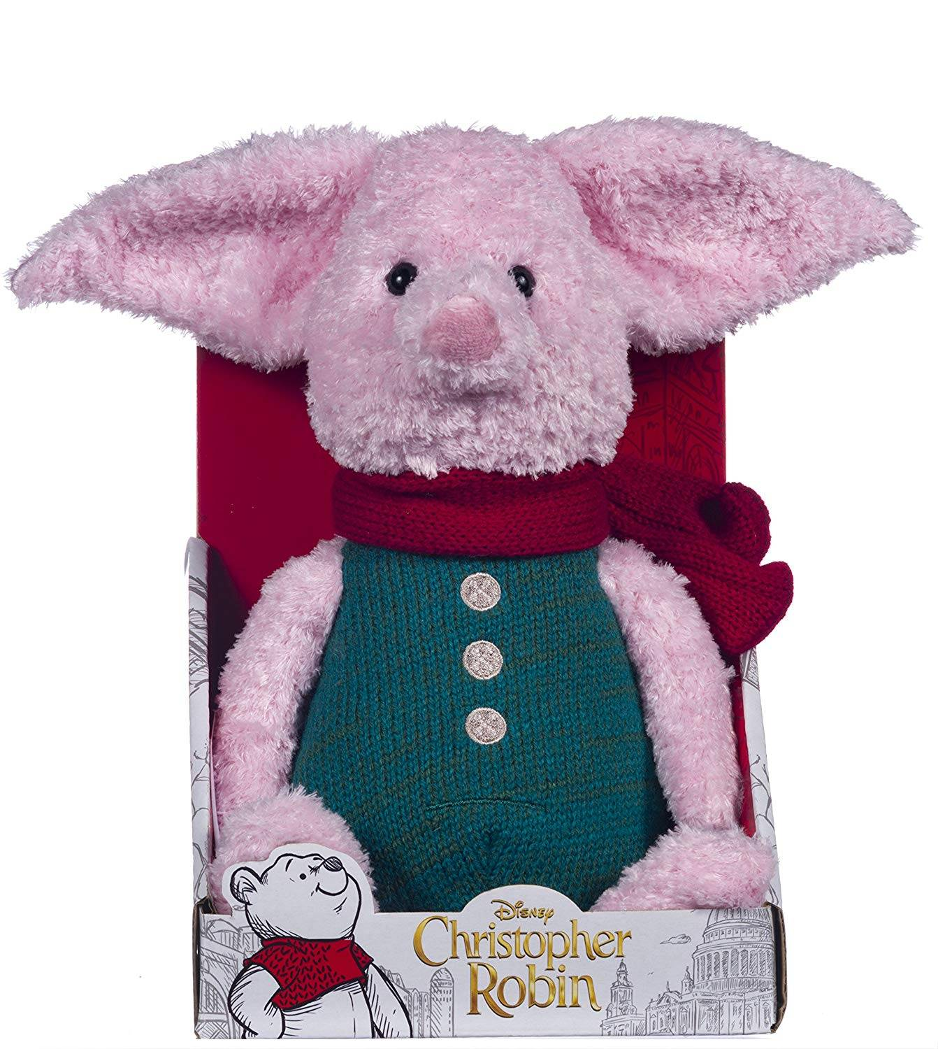 1a9f8e96c0da Disney Christopher Robin Collection Winnie the Pooh Piglet Soft Toy ...