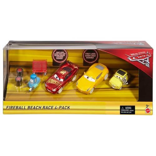 Disney Pixar Cars 3 Fireball Beach Race 4 Pack