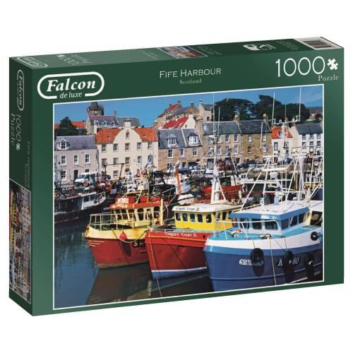 Falcon de luxe Fife Harbour 1000pc Jigsaw Puzzle