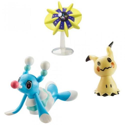 Pokemon Battle Figure Set - Brionne Mimikyu Cosmoem