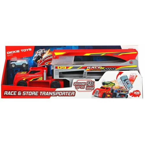 Dickie Toys Race & Store Transporter